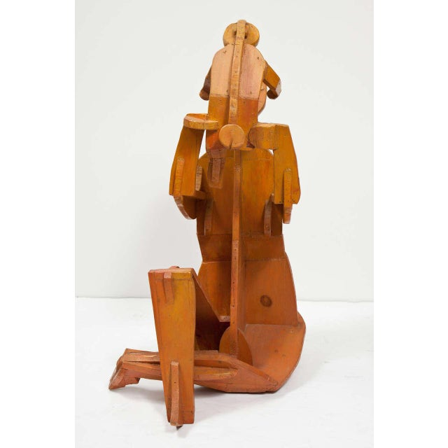 Folk Art Sculpture of Mother and Child For Sale - Image 3 of 11