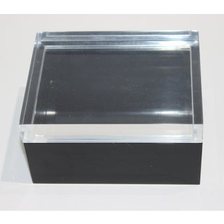 Minimalist Art Deco Moderne Lucite Box in Black & Clear Preview