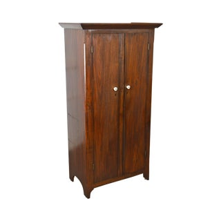 Antique 19th Century Berks County Poplar 2-Door Childs Wardrobe Cabinet For Sale