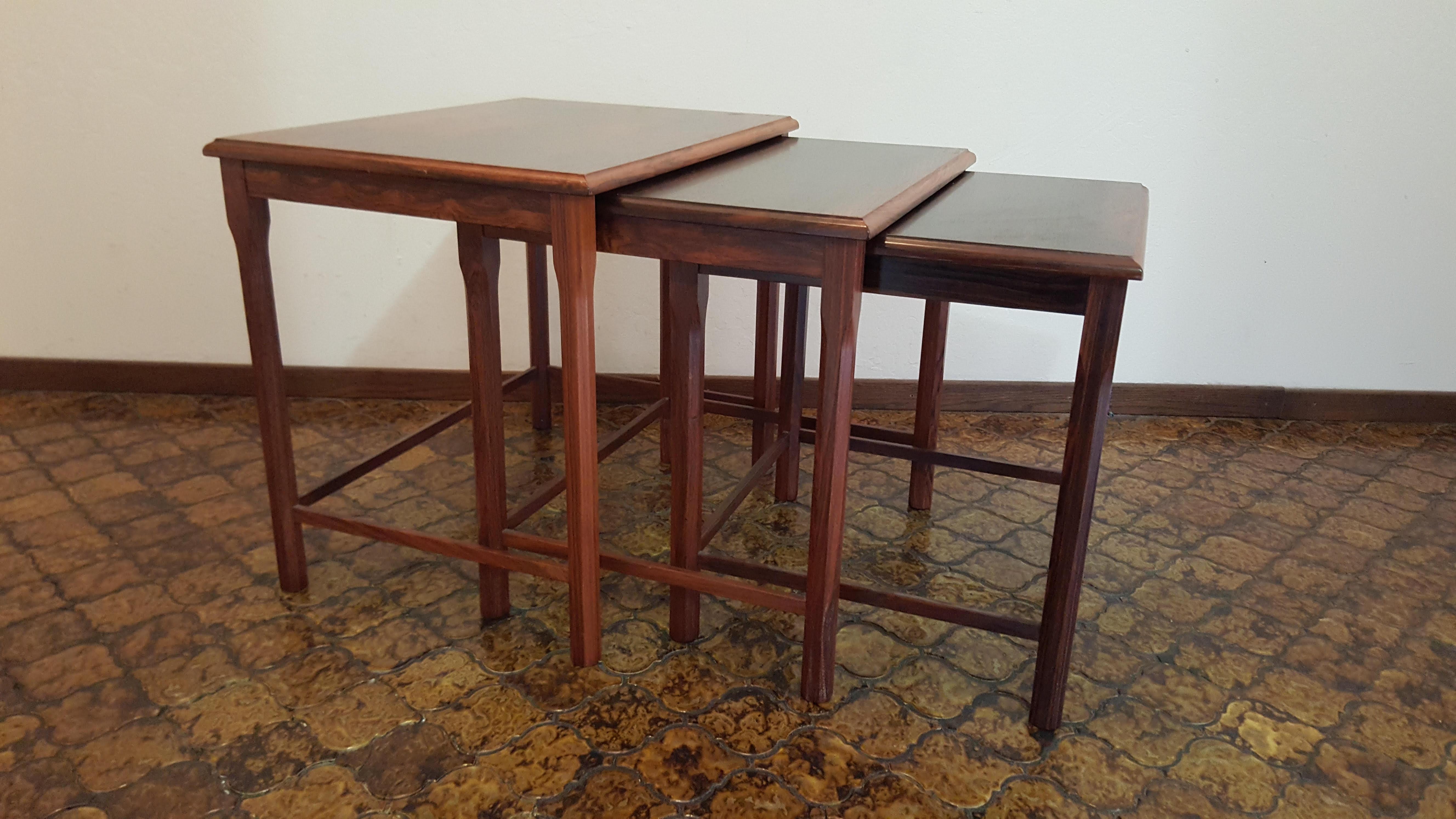 Toften Mobelfabrik Vintage Danish Nesting Tables   Set Of 3   Image 2 Of 11