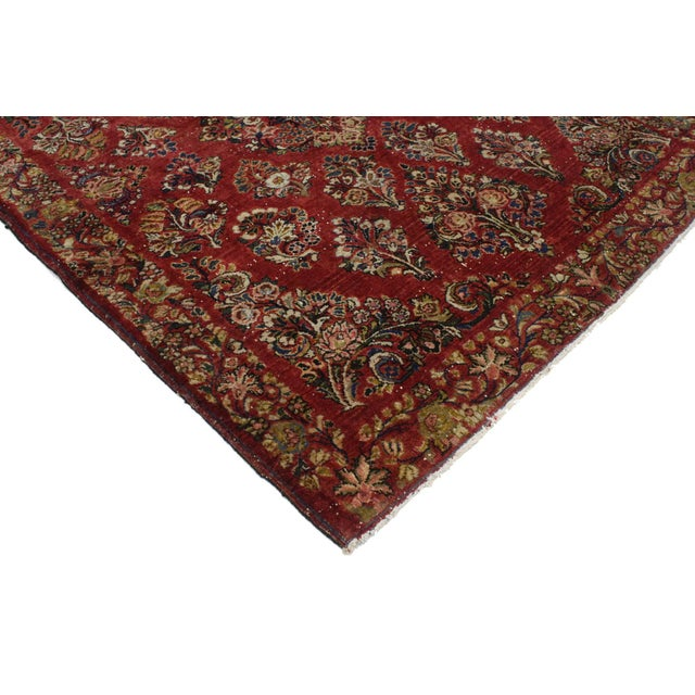 Antique Sarouk Persian Rug With Traditional Style - 03'04 X 04'08 For Sale - Image 9 of 10