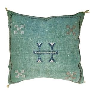 Contemporary Moroccan Sabra Cactus Silk Pillow