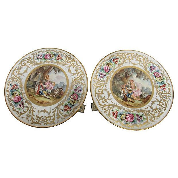 French Sevres Style Tables - A Pair - Image 2 of 7