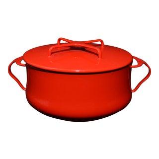 Dansk Chinese Red Enamel Dutch Oven