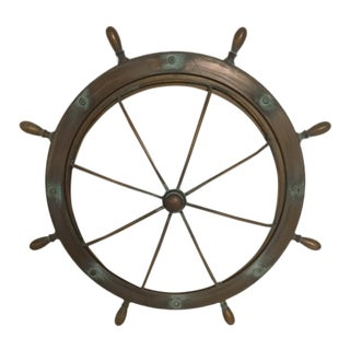 Single Port Hole Wall Sconce- Brass For Sale