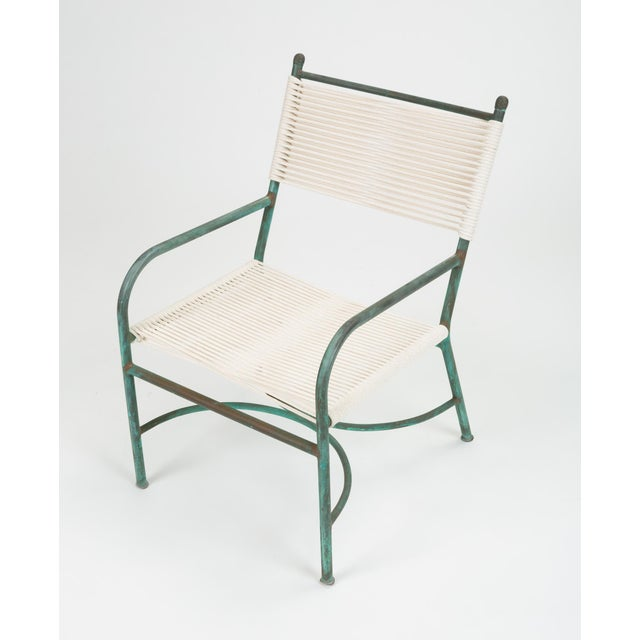 1930s Robert Lewis Bronze Patio Lounge Chair For Sale - Image 5 of 13