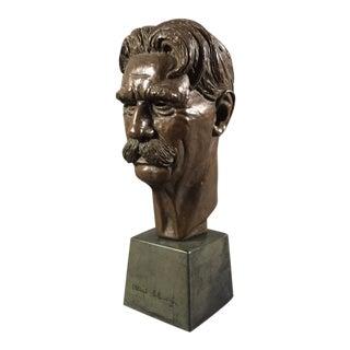 Bronze Sculpture of Nobel Winner Albert Schweitzer, 1955 For Sale