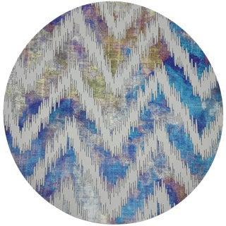 """Nicolette Mayer Chevron Coast 16"""" Round Pebble Placemat For Sale"""