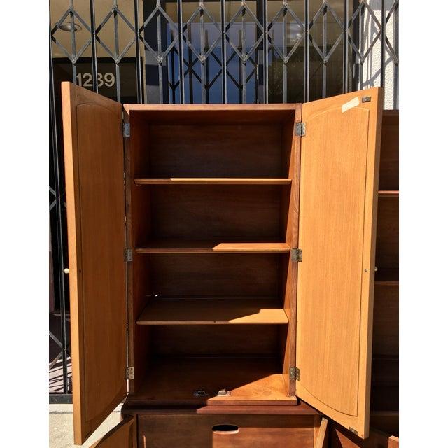 Mid Century Modern 2 Piece Bookshelf - Image 7 of 9
