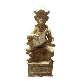 Vintage Italian Terracotta Monkey Figure For Sale