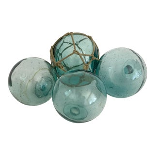 1960s Japanese Fishing Floats - Set of 4 For Sale