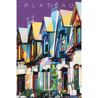 2020 Contemporary Montreal Poster - Plateau Mont Royal (Framed) For Sale
