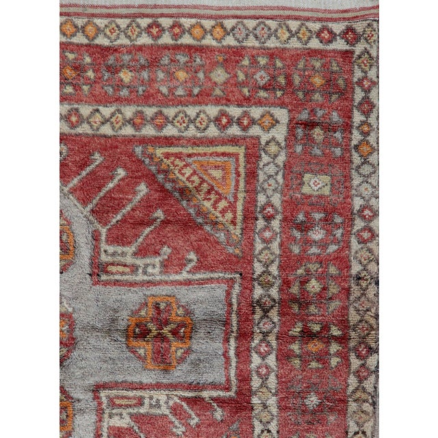 Vintage Turkish Oushak Runner - 3'10 X 9'4 - Image 3 of 3