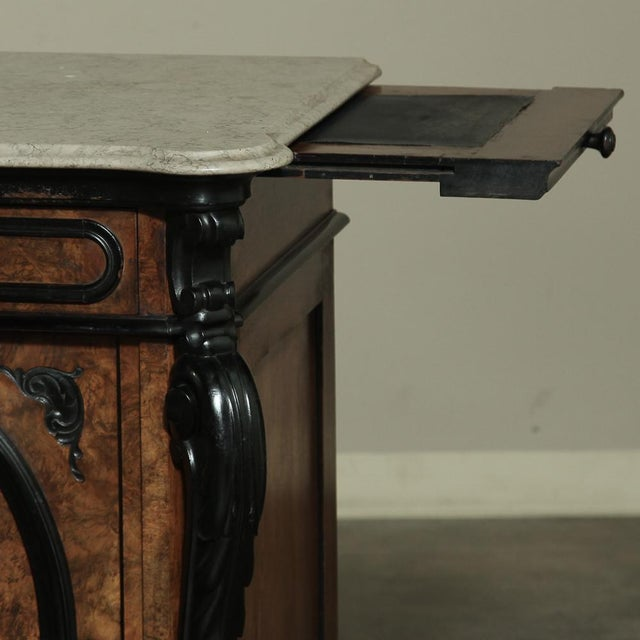 Wood 19th Century Biedermeier Marble Top Buffet For Sale - Image 7 of 13