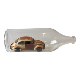 Vintage Vw Bug in a Bottle For Sale