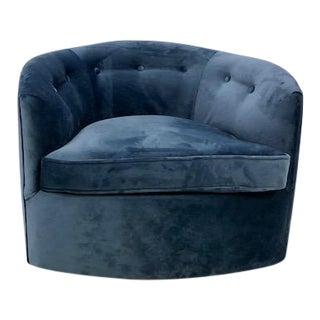 Milo Baughma Style Barrel Swivel Chair