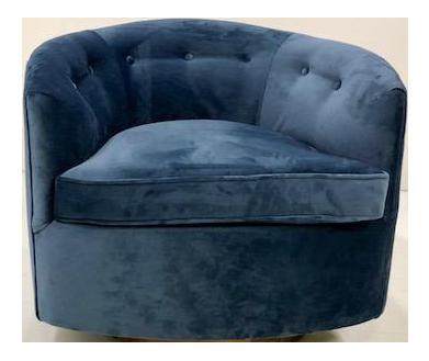 Etonnant Milo Baughma Style Barrel Swivel Chair