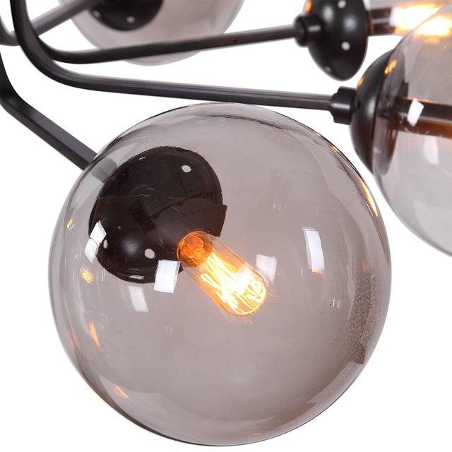 Modern 8 Light Chandelier For Sale - Image 4 of 8
