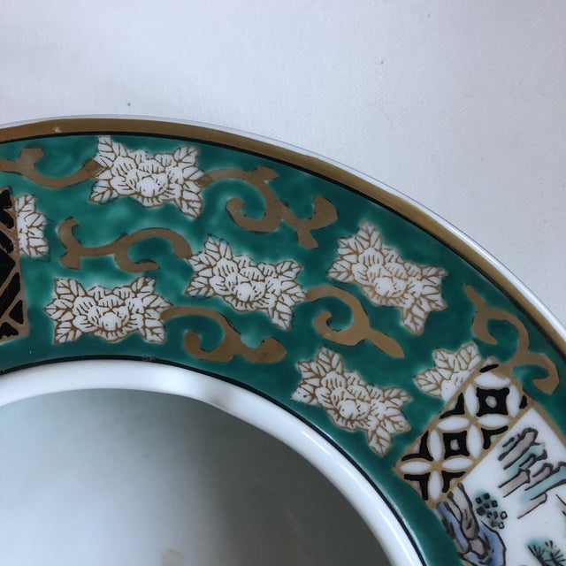 Asian Vintage Japan Gold Imari Hand Painted Ashtray For Sale - Image 3 of 8