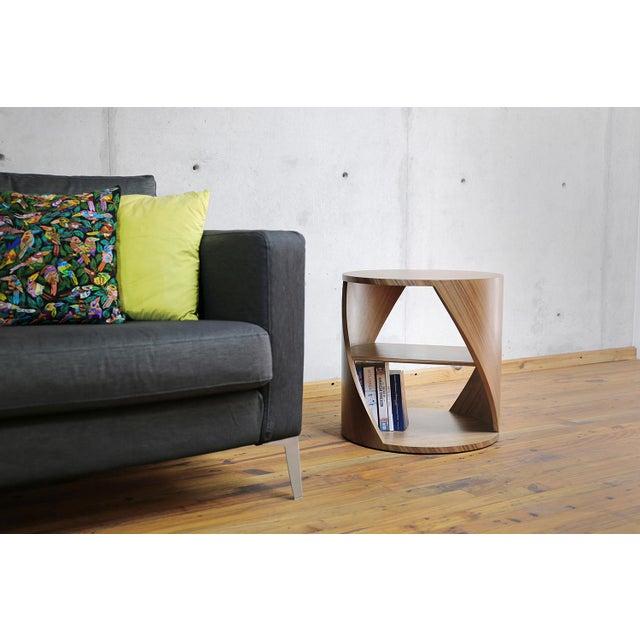 Mydna Teak Decorative Side Table by Joel Escalona For Sale - Image 9 of 10