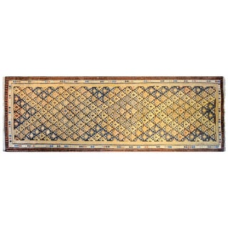 Amazing Early 20th Century Qazvin Kilim Runner For Sale