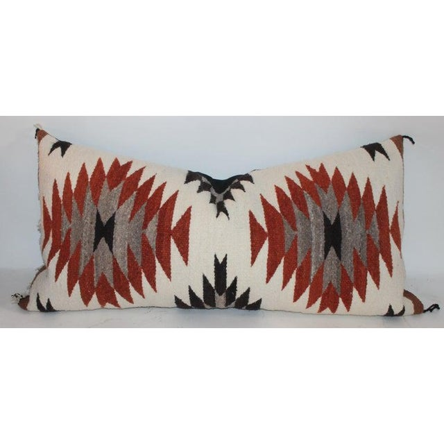 2010s Navajo Indian Weaving Saddle Blanket Pillows - Set of 2 For Sale - Image 5 of 9