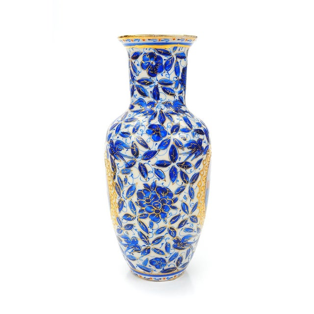 Antique Persian Blue & White Porcelain Vase - Image 7 of 9