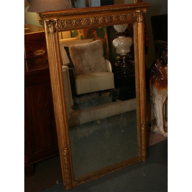 Giltwood Louis XVI Style Mirror For Sale - Image 9 of 10