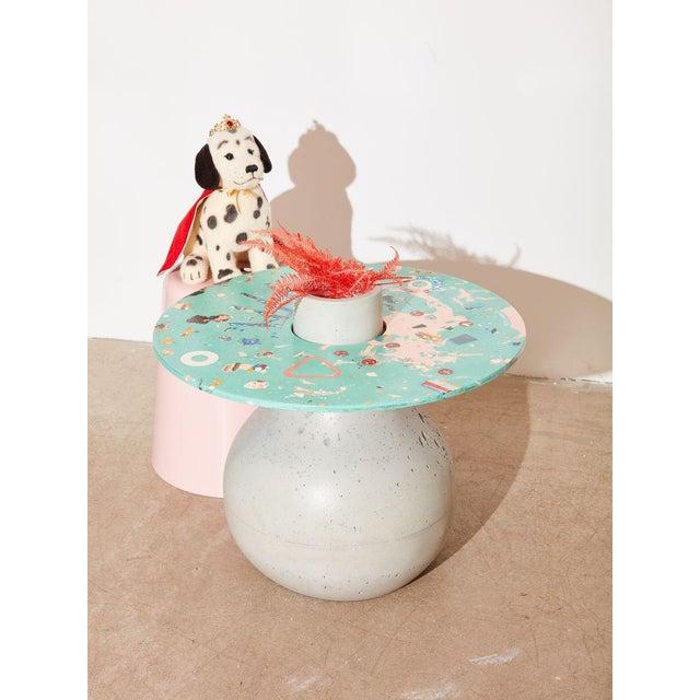 Boho Chic Concrete Cat Venus Chaos Table For Sale - Image 3 of 4
