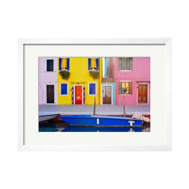 """Michael Valdez """"Blue Boat"""" Framed Print - Image 1 of 2"""