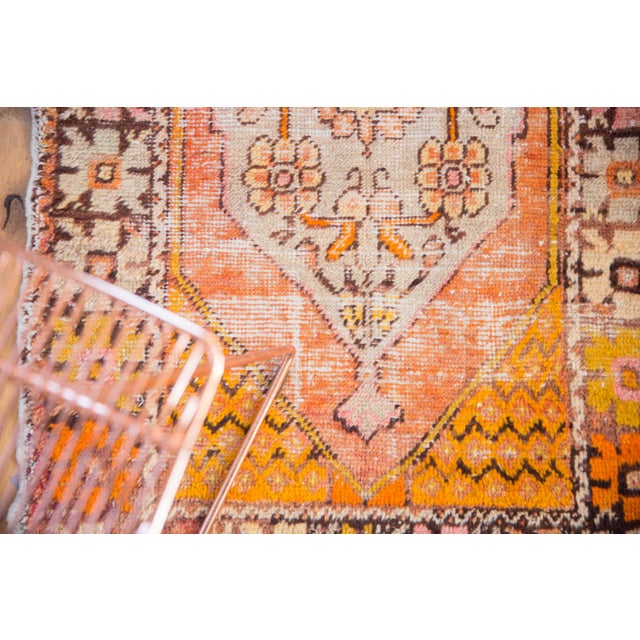 """1940s Vintage Distressed Oushak Square Rug - 2'10"""" X 4'1"""" For Sale - Image 5 of 11"""