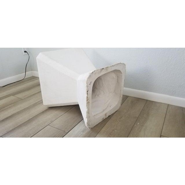 Vintage Postmodern Geometric Plaster Side Table For Sale - Image 11 of 13