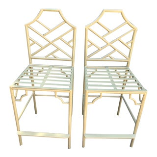 Chippendale Counter Stools - a Pair For Sale