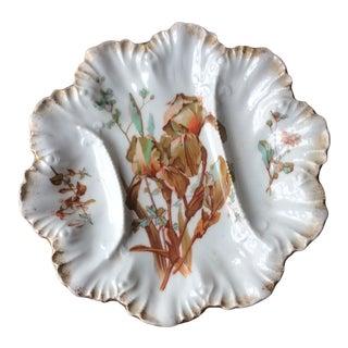 Antique 1900s French Porcelain Asparagus Plate, Limoges For Sale