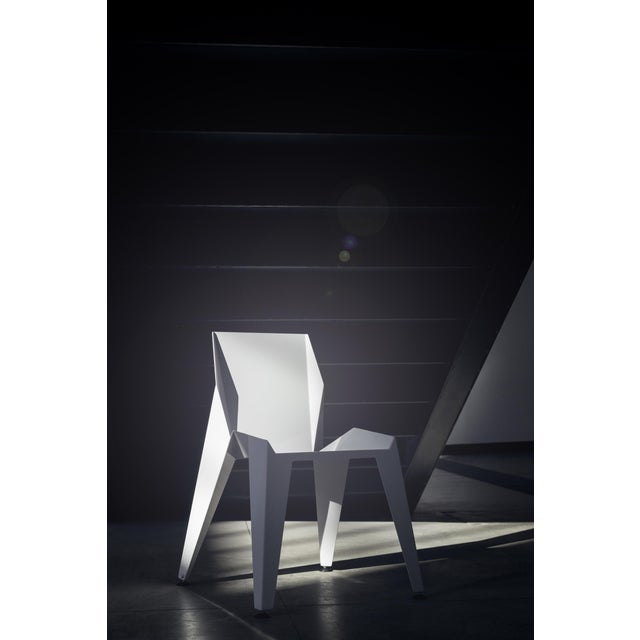 Origami Inspired Edge White Chair | Indoor & Outdoor Chair For Sale - Image 4 of 9