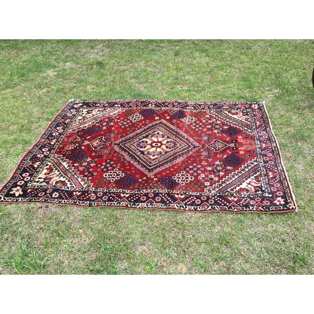 Antique Turkish Handmade Wool Rug - 2′7″ × 4′9″ For Sale - Image 4 of 5
