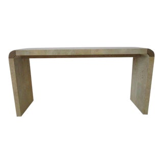 Henredon Scene Two Burl Wood Console Table or Small Desk