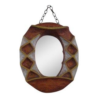 Isabelle Ferlay Vallauris Ceramic Mirror For Sale