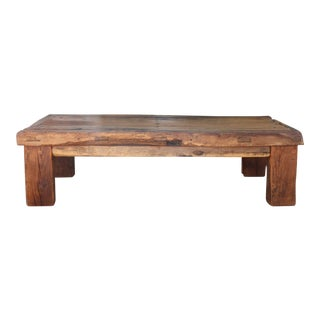 Rustic Solid Wood Coffee Table For Sale