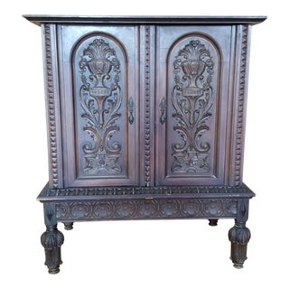 1940's French Renaissance Revival Style Dry Bar For Sale