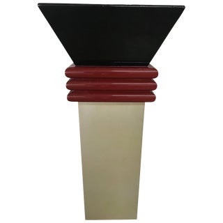 Post-Modern Lacquered Pedestal For Sale