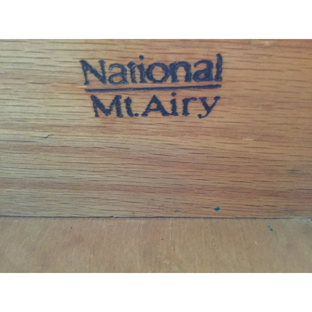 National Mt. Airy Campaign-Style Dresser and Mirror - 2 Pc. For Sale - Image 4 of 6