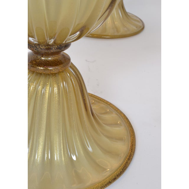 Gold Customizable Murano Glass Lamps For Sale - Image 8 of 10