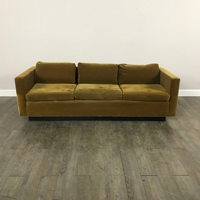 Vintage Gold Mohair Sofa - Image 2 of 11