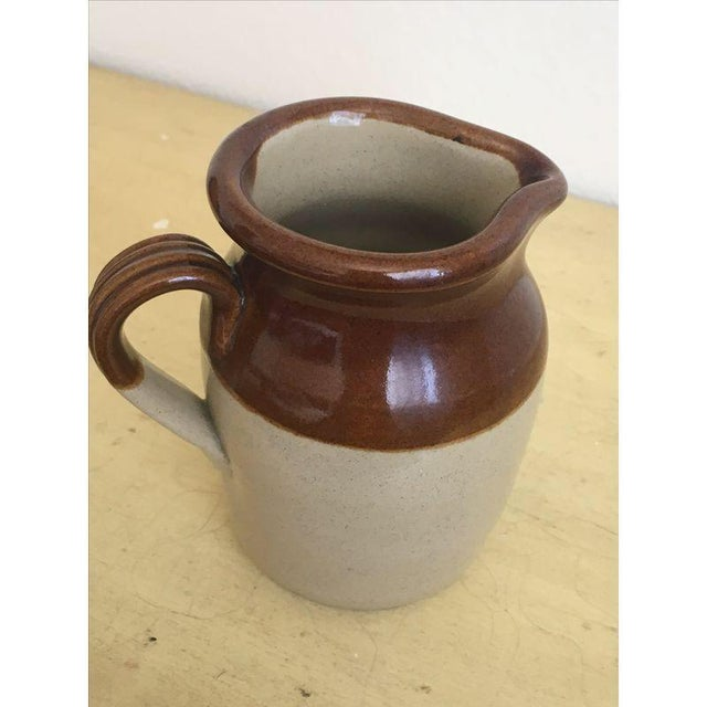 Brown Betty Rustic Cream Pitcher Bud Vase - Image 3 of 5