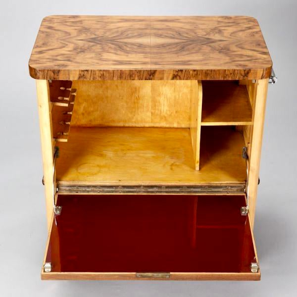 French Art Deco Liquor Cabinet Cart - Image 3 of 5