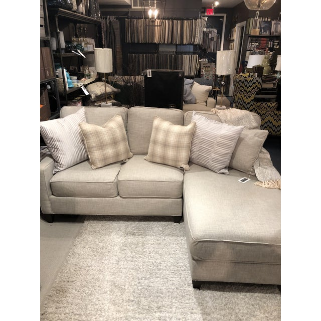 Textile Cr Laine 2 Piece Sectional Sofa For Sale - Image 7 of 9