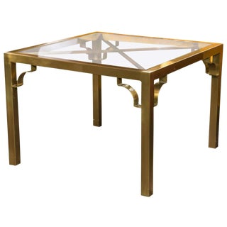 1960s Vintage Mastercraft Brass End Table For Sale