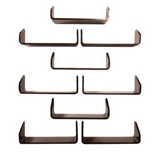 Floating Bookshelves after Gio Ponti - Set of 9 For Sale