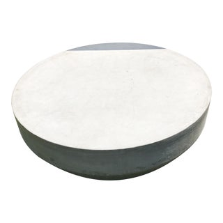 Restoration Hardware Large Cosimo Outdoor Gray Round Cement Table For Sale